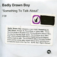 BADLY DRAWN BOY - Something To Talk About
