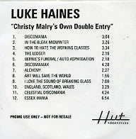 LUKE HAINES - Christy Malry's Own Double Entry