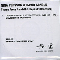 NINA PERSSON and DAVID ARNOLD - Theme From 'Randall & Hopkirk (Deceased)'