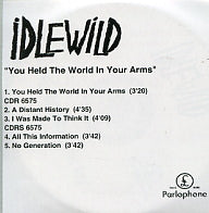 IDLEWILD - You Held The World In Your Arms