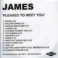 JAMES - Pleased To Meet You