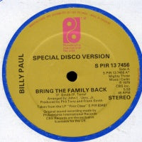 BILLY PAUL - Bring The Family Back / It's Critical