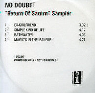 NO DOUBT - Return Of Saturn Sampler