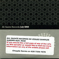VARIOUS - All Saints Records - July 2005