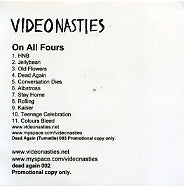 THE VIDEO NASTIES - On All Fours