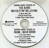 THE KDMS / MUNK - Never Stop Believing / Back Down