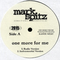 MARK SPITZ - One For Me Featuring Kanye West