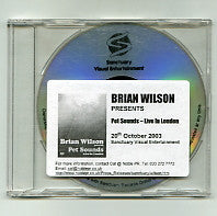 BRIAN WILSON - Pet Sounds - Live In London