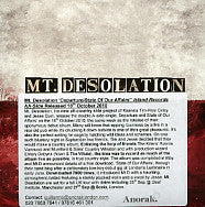 MT. DESOLATION - Departure / State Of Our Affairs