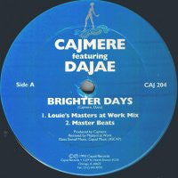 CAJMERE - Brighter Days (Remixes)