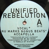 UNITY COMMITTEE & REBELS OF RHYTHM (JURASSIC-5)  - Unified Rebelution