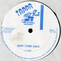 U-ROY / SLY & ROBBIE - Baby Come Back
