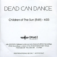 DEAD CAN DANCE - Children Of The Sun (Live)