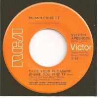 WILSON PICKETT - Take Your Pleasure Where You Find It / What Good Is A Lie