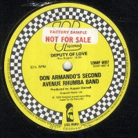 DON ARMANDO'S SECOND AVENUE RHUMBA BAND - Deputy Of Love / I'm An Indian, Too