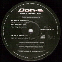 DON-E - Back Again EP