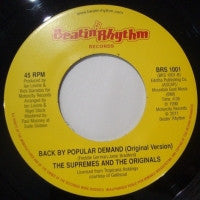 THE SUPREMES & THE ORIGINALS - Back By Popular Demand (DJ Edit) / Back By Popular Demand (Original Version)