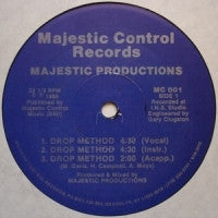 MAJESTIC PRODUCTIONS - Drop Method / Majestic Controls Music