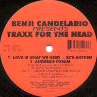 BENJI CANDELARIO PRESENTS - Traxx For The Head