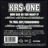 KRS-ONE - How Bad Do You Want It / Ya Feel Dat / Undaground