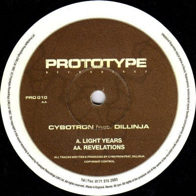 CYBOTRON FEAT. DILLINJA - Light Years / Revelations