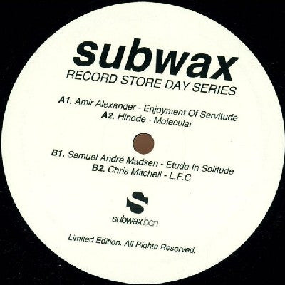 AMIR ALEXANDER / HINODE / SAMUEL ANDRÉ MADSEN / CHRIS MITCHELL - Subwax Record Store Day Series 2014