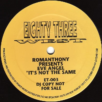 ROMANTHONY PRESENTS EVE ANGEL - It's Not The Same