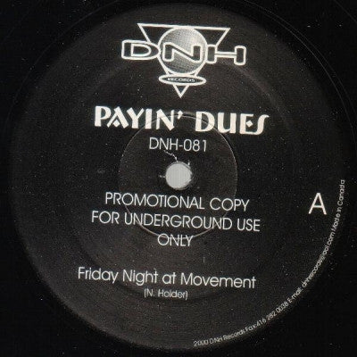 NICK HOLDER - Payin' Dues