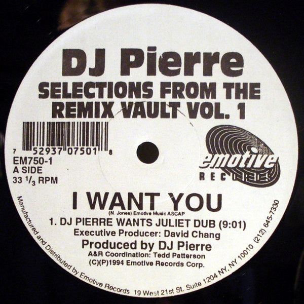 DJ PIERRE Selections From The Remix Vault Vol  1 2x12