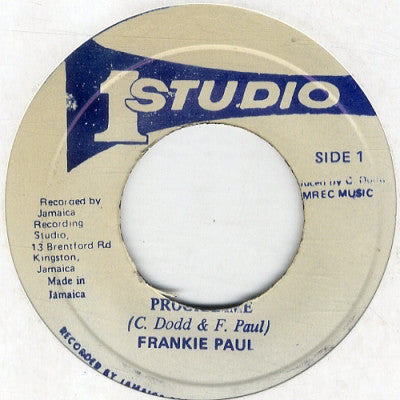FRANKIE PAUL - Programme / Version.