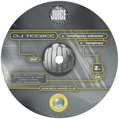DJ TEEBEE - Intelligence Unknown / Conspiracy