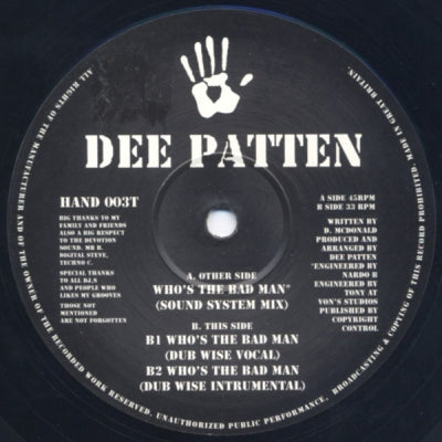 DEE PATTEN - Who's The Bad Man?