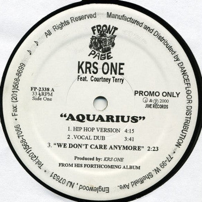 KRS ONE FEATURING COURTNEY TERRY - Aquarius
