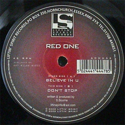 RED ONE - Believe In U / Don't Stop
