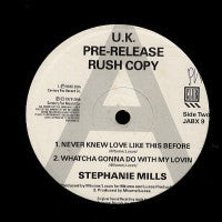 STEPHANIE MILLS - In My Life / Everlasting Love / Never Knew Love Like This / Whatcha Gonna Do With My Lovin