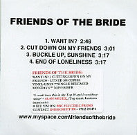 FRIENDS OF THE BRIDE - Want In?