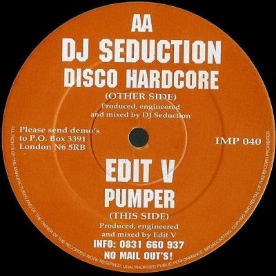 DJ SEDUCTION / EDIT V - Disco Hardcore / Pumper
