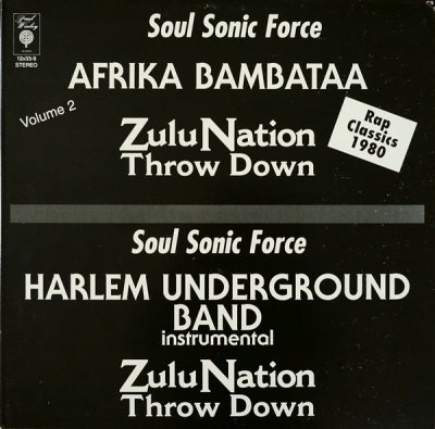 AFRIKA BAMBAATA / HARLEM UNDERGROUND BAND - Zulu Nation Throw Down Volume 2 / Zulu Nation Throwdown
