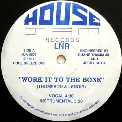 LNR - Work it to the Bone /  It's A Mystery To Me