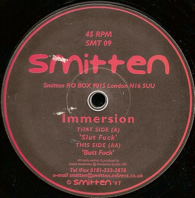 IMMERSION - Slut Fuck / Butt Fuck
