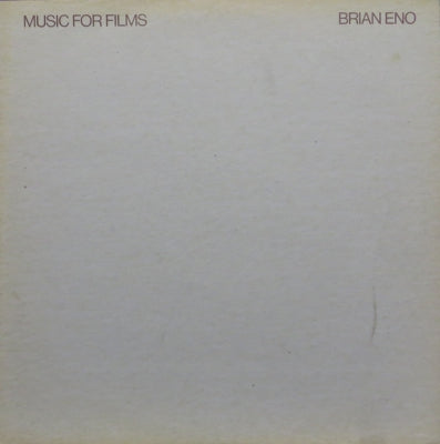BRIAN ENO - Music For Films