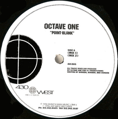 OCTAVE ONE - Point-Blank / Through Darkness