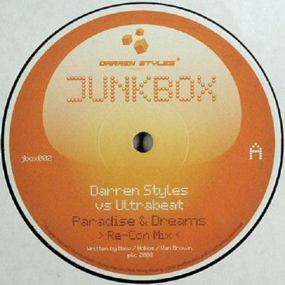 DARREN STYLES VS ULTRABEAT - Paradise & Dreams (Re-Con Mix) / Sure Feels Good (Styles & Re-Con Mix)