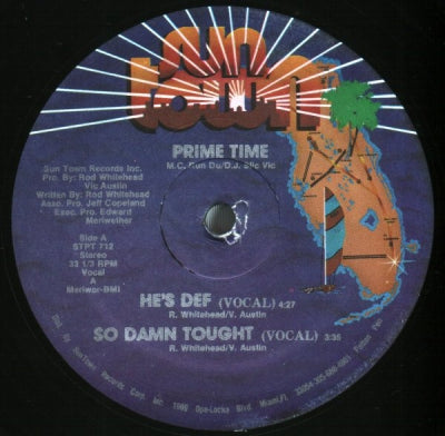 PRIME TIME - He's Def / So Damn Tough