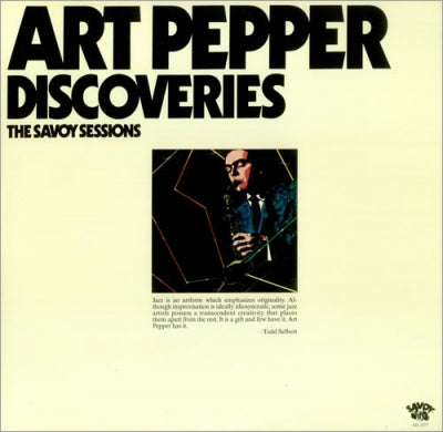 ART PEPPER - Discoveries - The Savoy Sessions