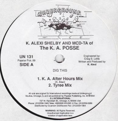 K ALEXI SHELBY & MCD-TA - Dig This