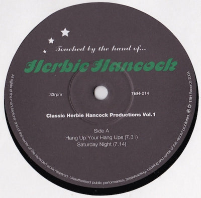 HERBIE HANCOCK - Classic Herbie Hancock Productions Vol. 1