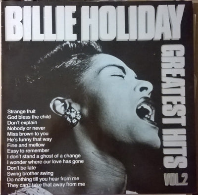 BILLIE HOLIDAY - Greatest Hits Vol. 2