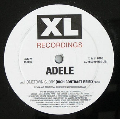 ADELE - Hometown Glory Remixes By High Contrast
