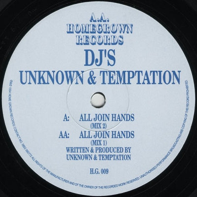 DJ'S UNKNOWN & TEMPTATION - All Join Hands